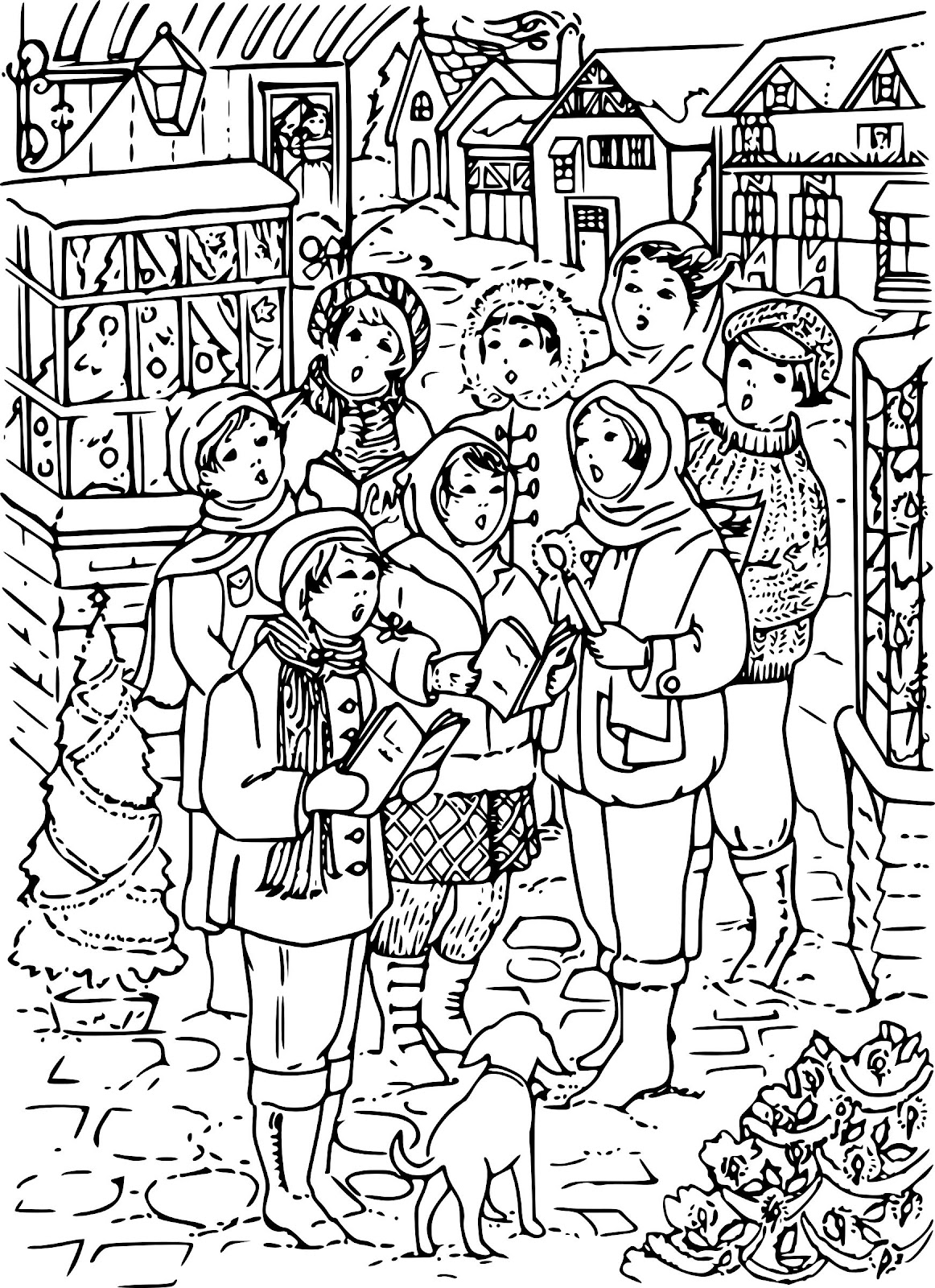 Papierpotpourri phoxo for Christmas carol coloring pages