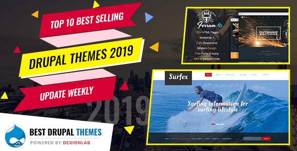 Top  Rated Selling Drupal Themes 2019 - Updated Weekly