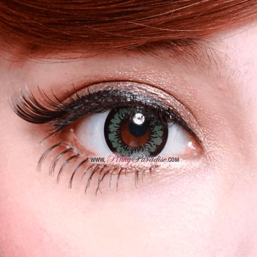 Geo-Angel Green Circle Lenses Close-up