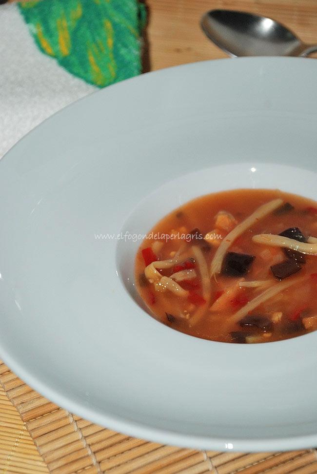 Receta de sopa pekinesa