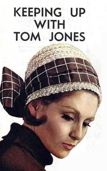 The Vintage Pattern Files: Free 1960's Sewing Pattern - 'Tom Jones' Hat Pattern