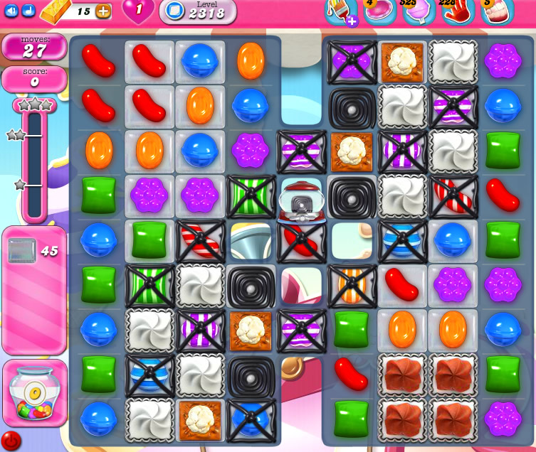 Candy Crush Saga level 2318
