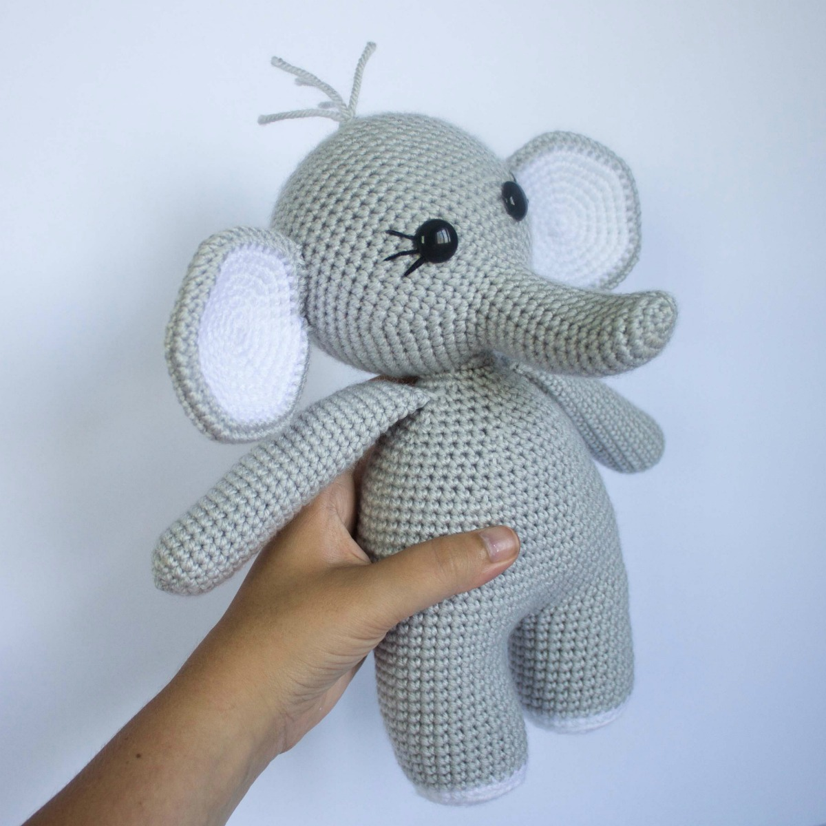 Crochet PATTERN No 1633 - Grey Elephant Echo by Krawka, cute ... | 1200x1200