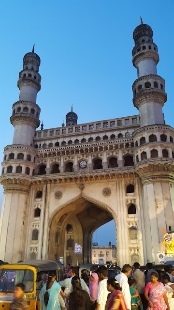 Charminar - 16th century Indo Islamic construction - Hyderabad India