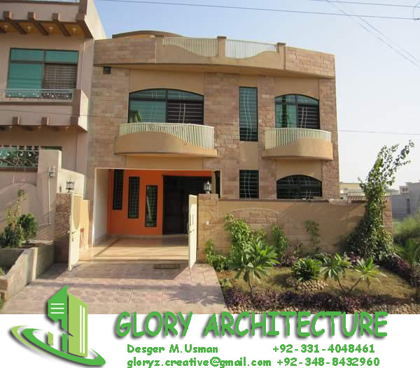 Glory Architecture 25x50 House Elevation Islamabad: 6 Marla House Design