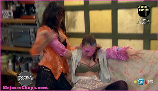Miren ibarguren se queda en sujetador en aida miren for Miren ibarguren ropa interior