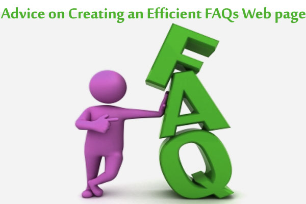 Advice on Creating an Efficient FAQs Web page
