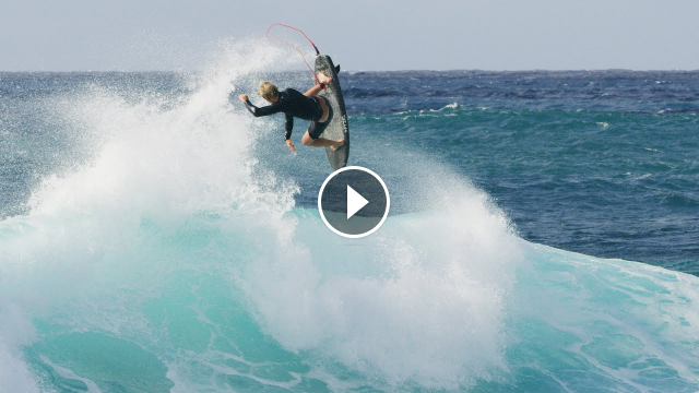 Flying without Foils John John tests new shortboard surfing at home
