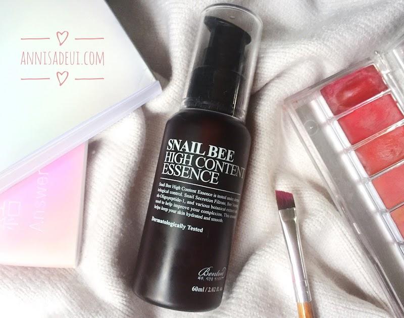 Benton Snail Bee High Content Essence: Rekomendasi Skin Care Untuk Pemula