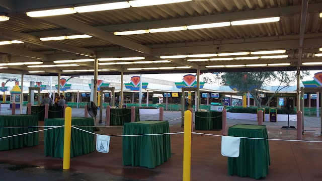 Transportation and ticket center, 7am