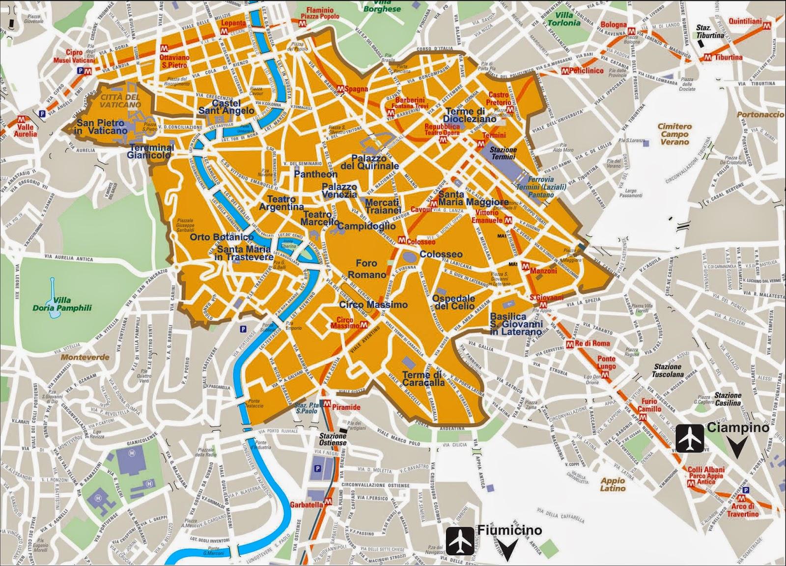 Cartina Mappa Roma