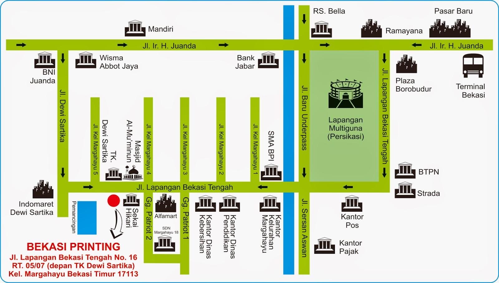 Denah Lokasi Bekasi Printing