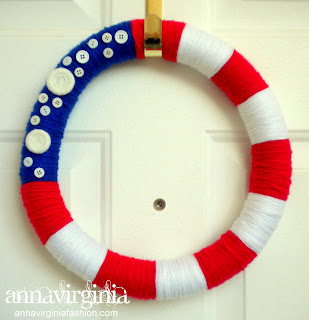 AnnaVirginia Fashion: Patriotic Wreath