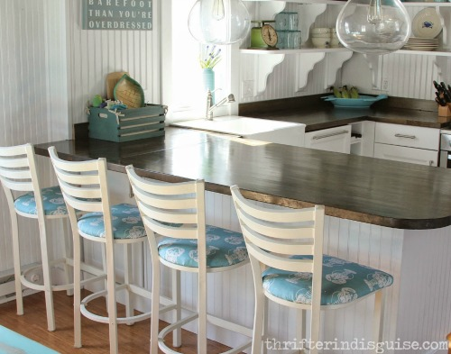 Beachy Kitchen Makeover With Awesome Nautical Lobster