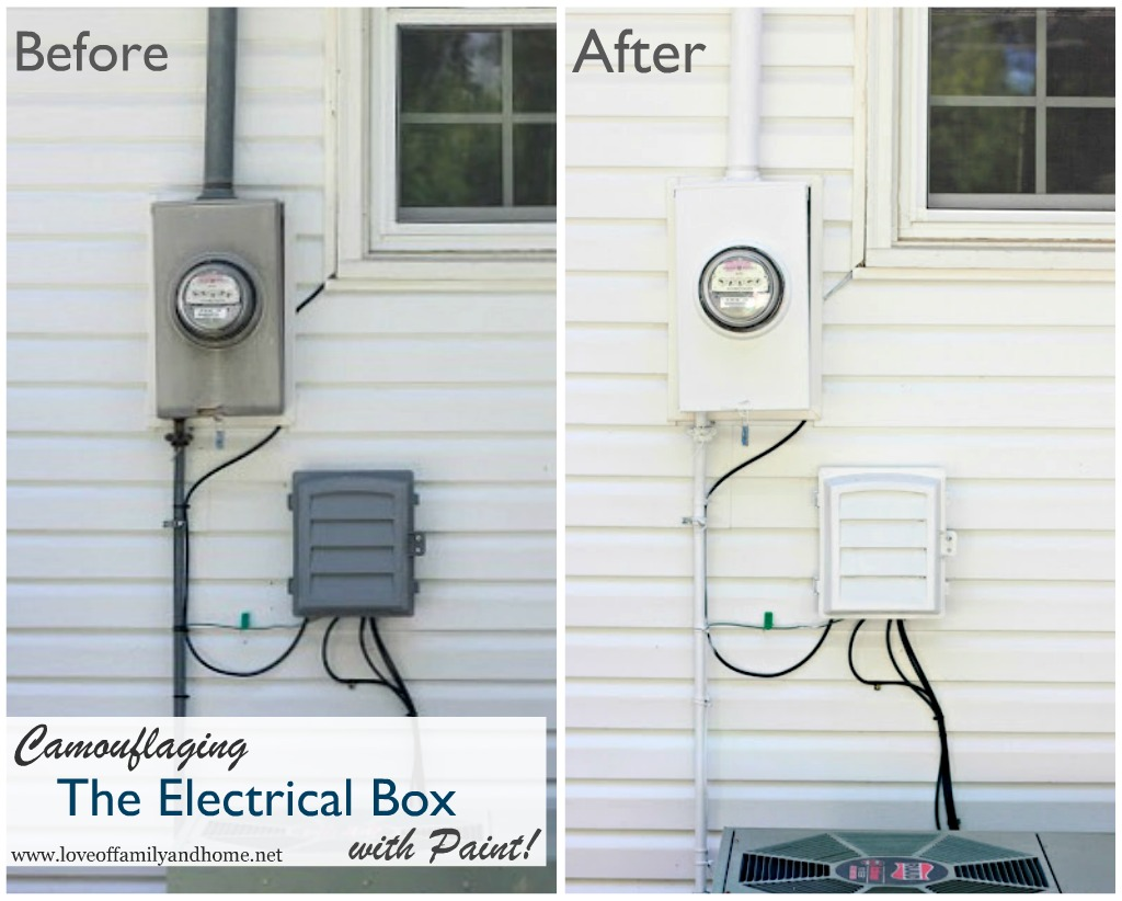Camouflaging An Eyesore In Our Backyard Love Of Family Home Utility Meter Box Google On Electric Installation Diagram