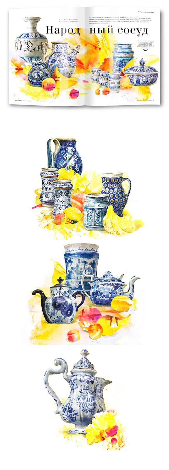 Illustration, Ceramics by Volkova Aleksandra aka Artksana