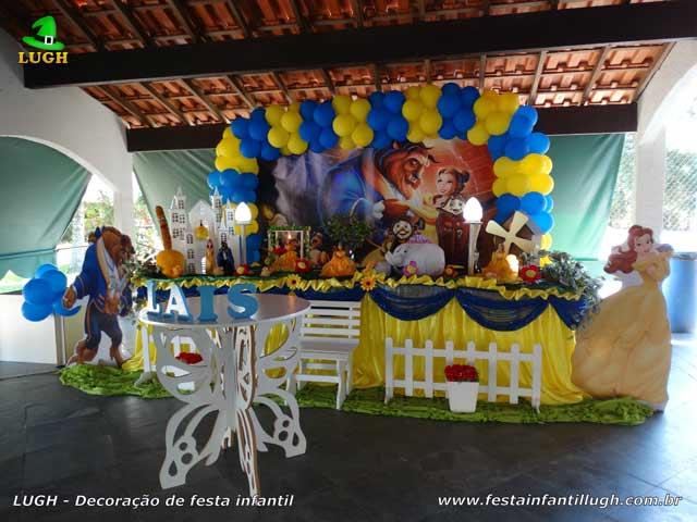 Mesa decorada Bela e a Fera luxo
