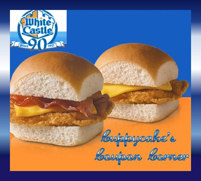 photo regarding White Castle Printable Coupons named Cuppycakes Coupon Corner: White Castle Acquire One particular Get hold of Just one Totally free