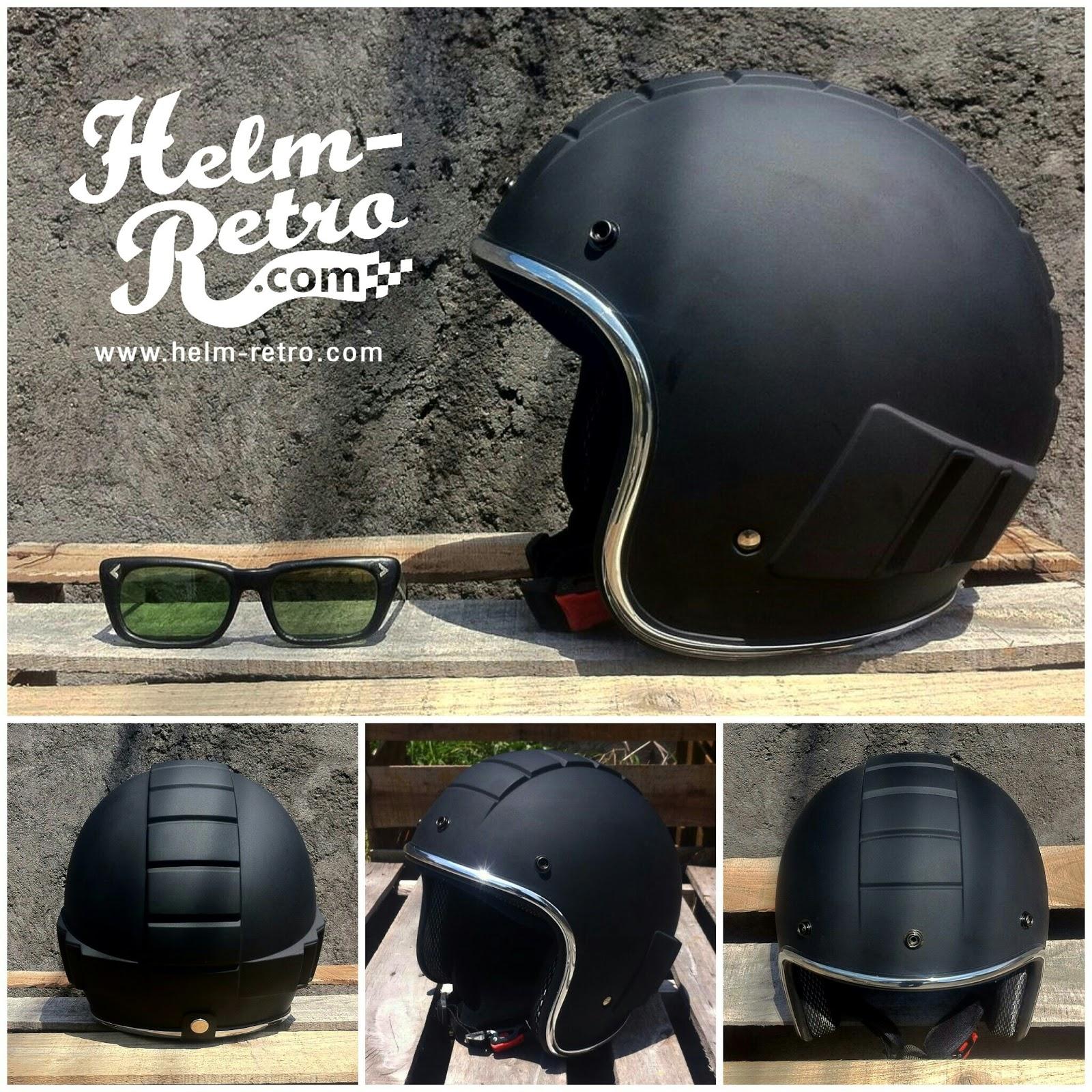 Helm Retro Helm Retro Pilot Helm Retro Bogo 6 Pilihan Desain