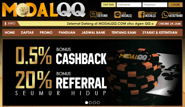 Modalqq Situs Bandar Judi Poker Domino QQ BandarQ Terpercaya Indonesia