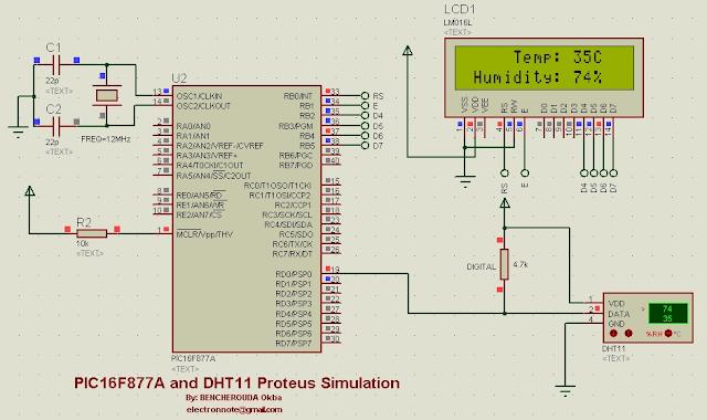 dht11 proteus simulation dht11 proteus library