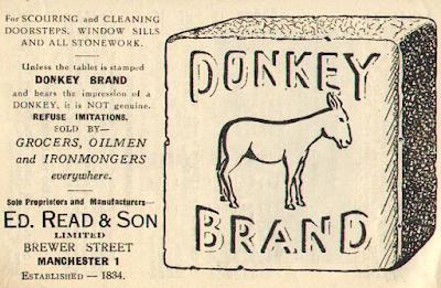 Advertisement for Donkey Stone