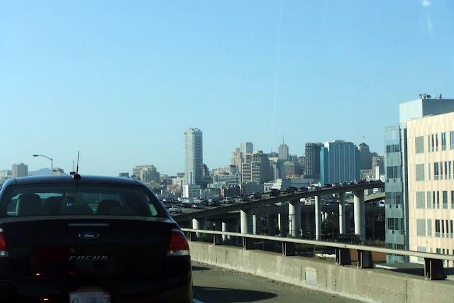 sanfrancisco-view 高速道路からのサンフランシスコ