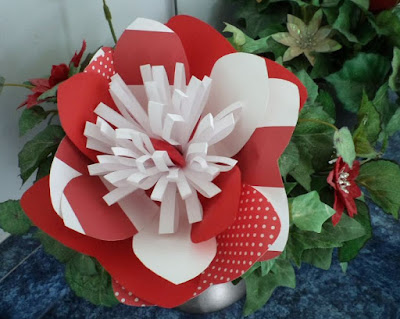Canada Day paper flower by eSheep Designs