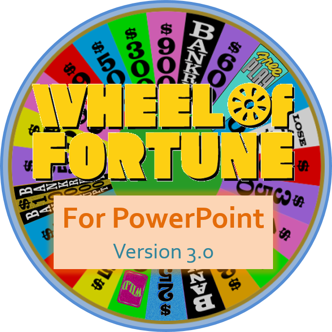 tim's slideshow games: wheel of fortune for powerpoint version 3.0, Powerpoint templates