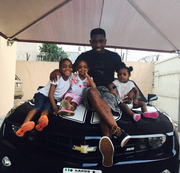 Timi Dakolo shows off his adorable children