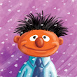 """Ernie In the Snow"" Painting 9"