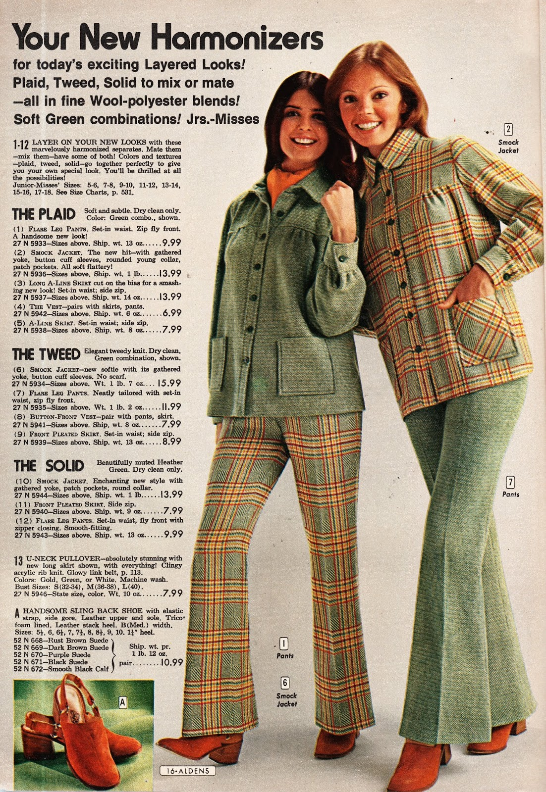 49b7cb5e The Plaid, The Tweed, The Solid!! Back in the 70s, it was all about mix and  match combinations!!