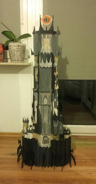 Cardboard Sauron's Tower