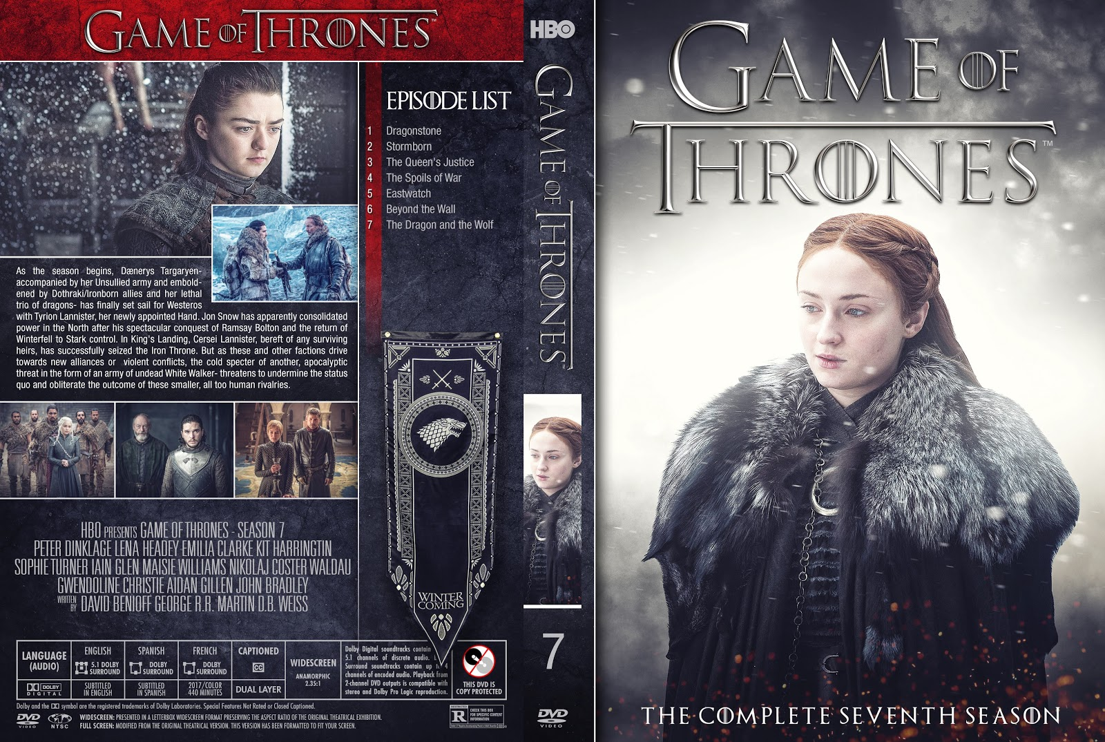 Game Of Thrones Season 7 Dvd Cover Cover Addict Free Dvd Bluray Covers And Movie Posters