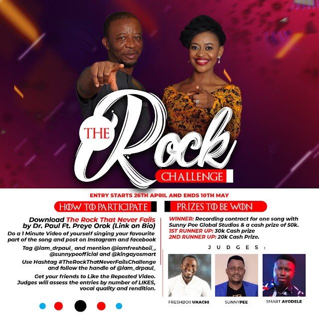 The Rock Challenge: The Biggest Ever Gospel Music Challenge Starts 26th April - 10th May