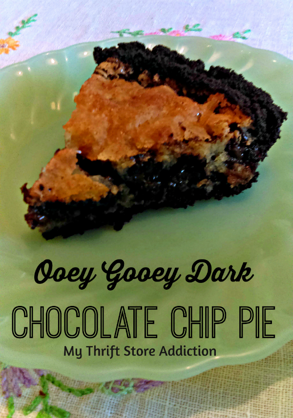 Dark chocolate chip pie