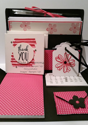 pop of pink stationery box inside