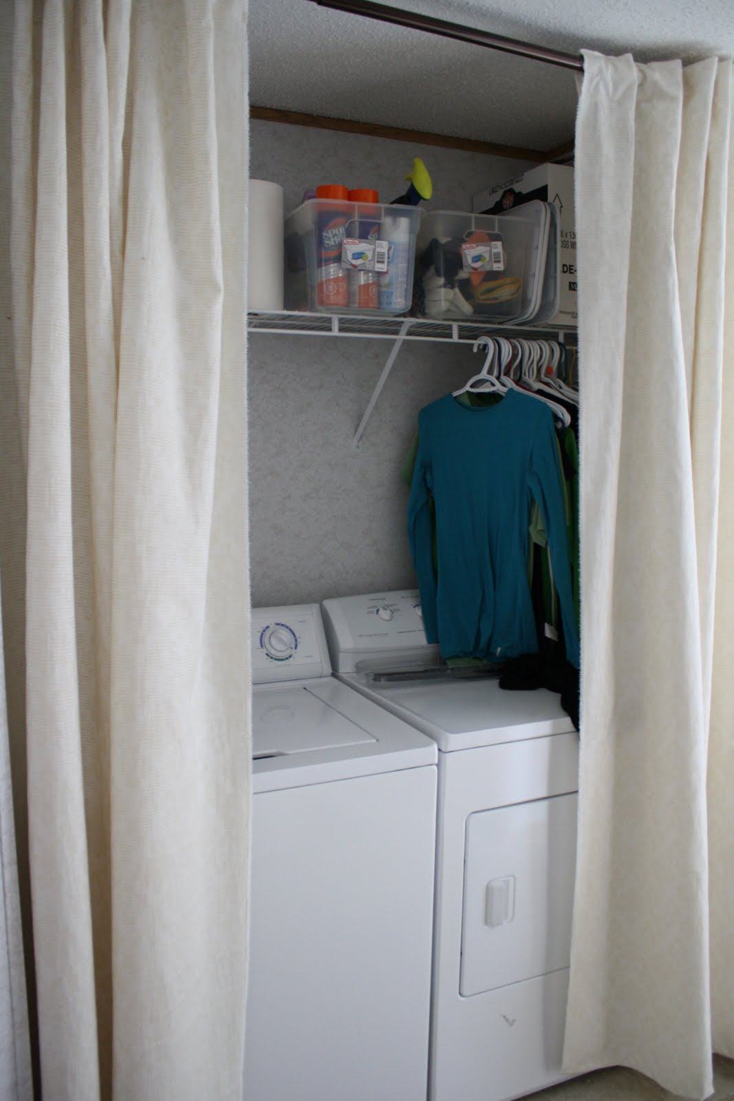 Banclothing Sewing Curtains To Hide Washer Dryer