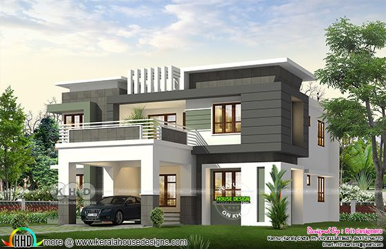 modern contemporary style 4 bedroom house 3d rendering