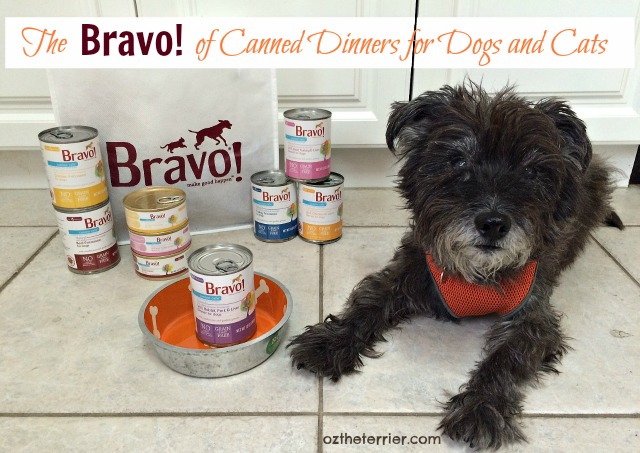 Oz with Bravo Pet Foods new product lines, Canine Cafe and Feline Cafe