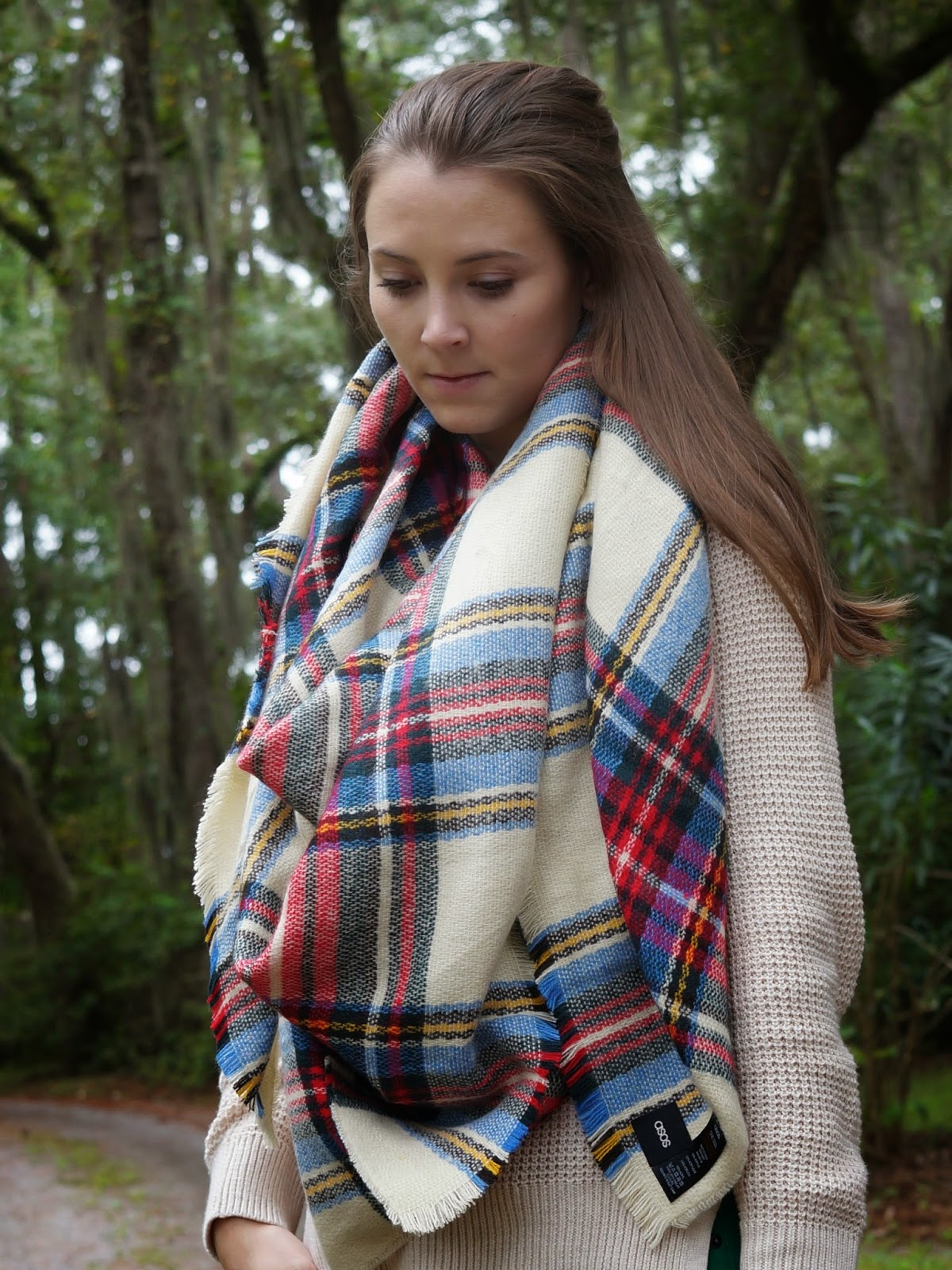 plaid checked tartan scarf
