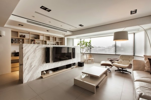 modern room divider ideas, TV wall design