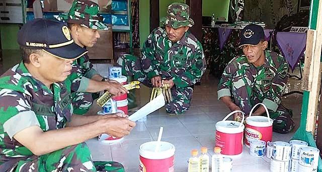 H-2 Penutupan TMMD Rempoh, Satgas Masih kejar Pengecatan RTLH