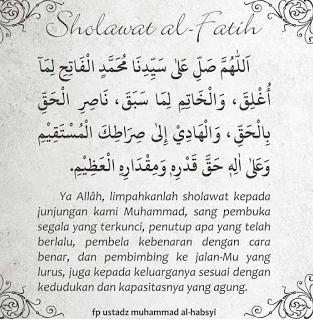 manfaat dan keutamaan membaca sholawat al fatih