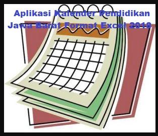 Aplikasi Kalender Pendidikan Jawa Barat Format Excel 2018