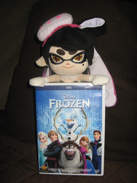 Callie Frozen DVD Disney plushie Splatoon Squid Sister Snowman