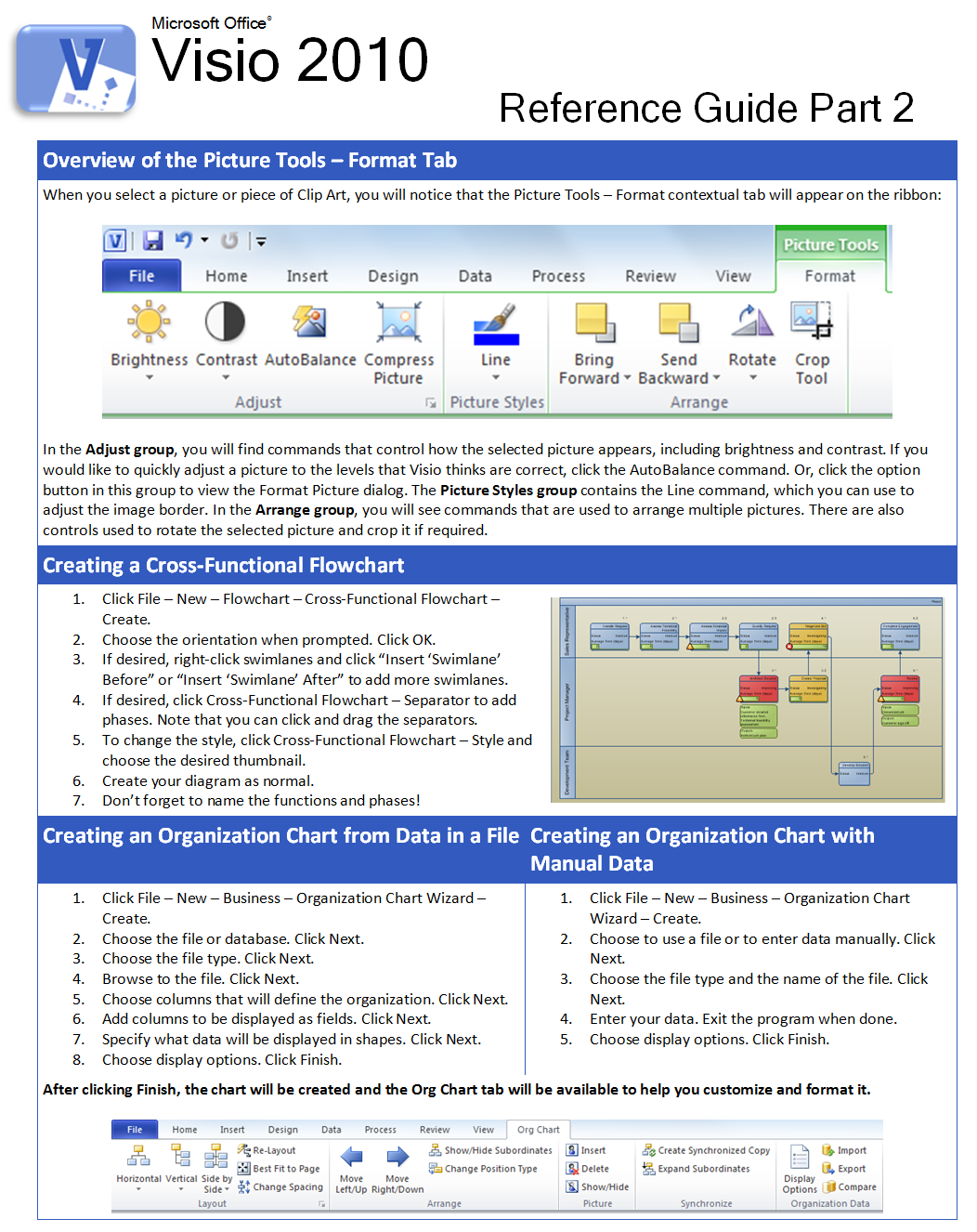 Charis Alexandra Training: Visio 2010 Quick Reference Guide Part 2