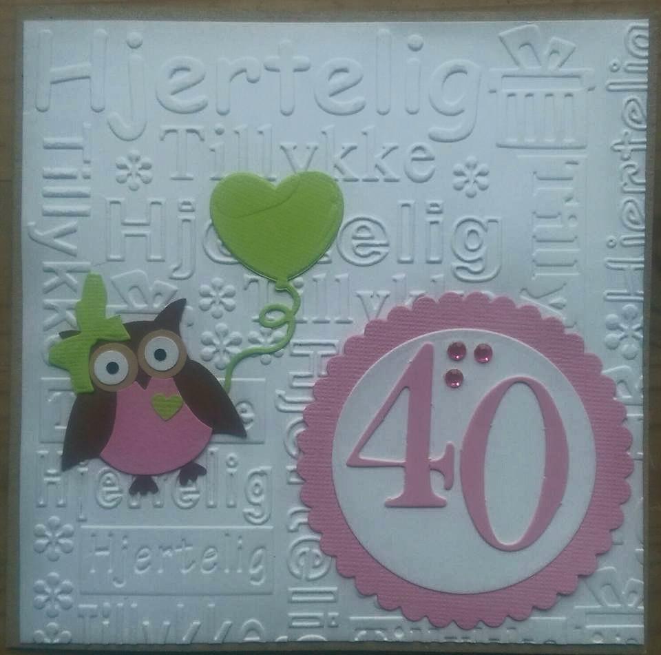 Gitte W Blog: Fødselsdagskort