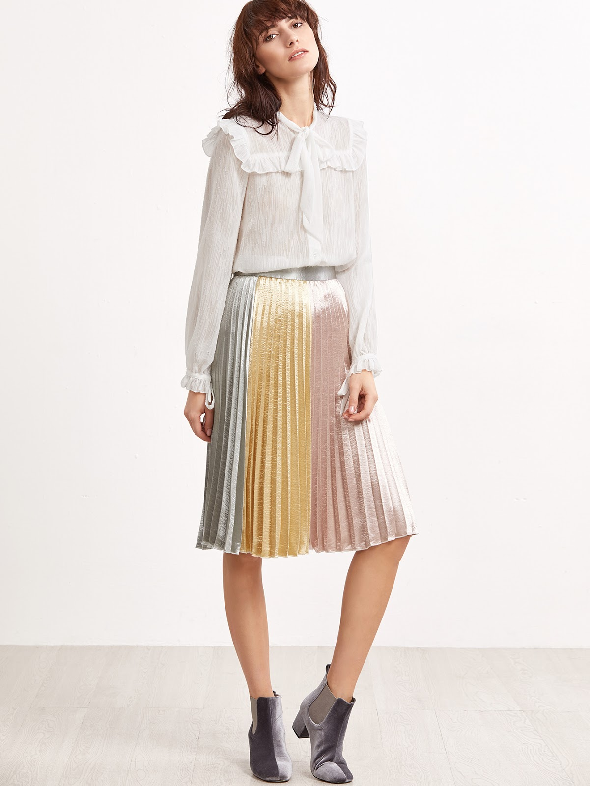 cheap pleated skirt