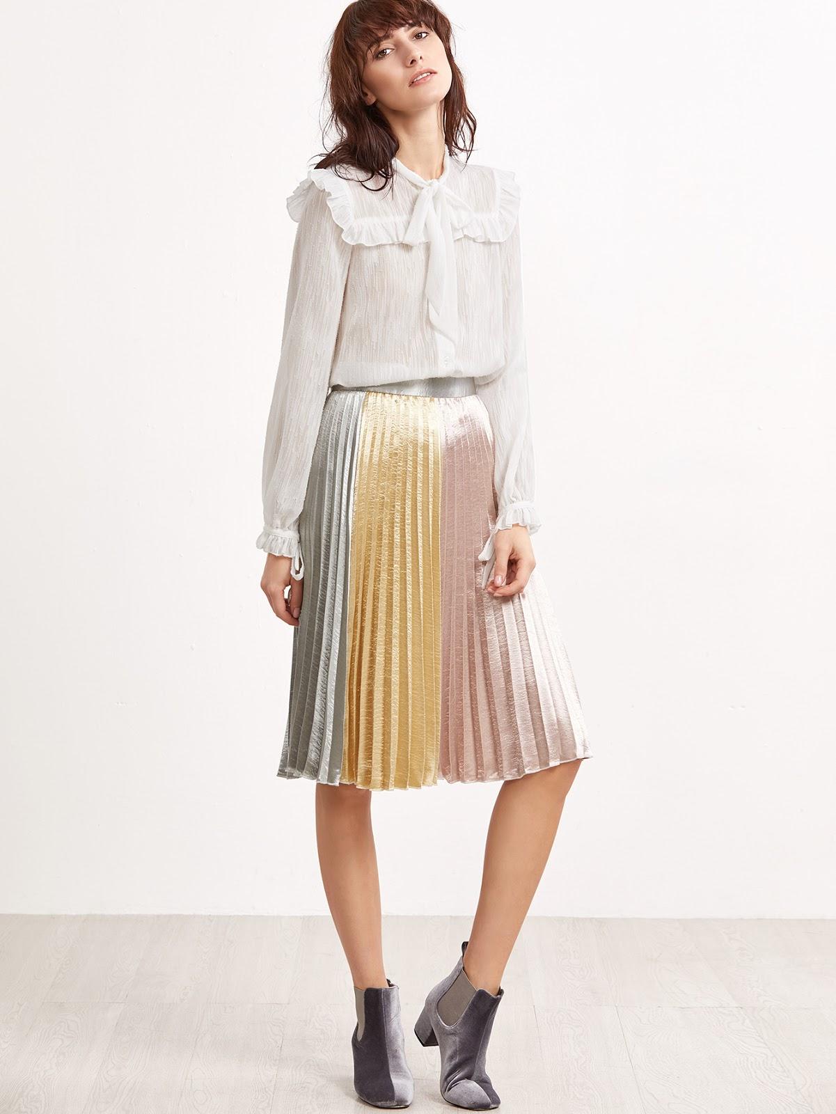 cheap pleated skirt